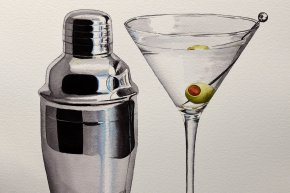 Painting Reflective Silver and Glass with Watercolor