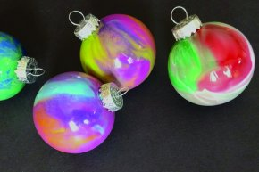 Swirl Paint Ornaments Ages (Ages 5-8)
