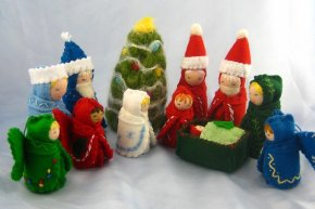 Needle-Felted Christmas Trees