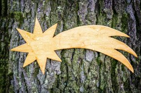 Wooden Star Carving